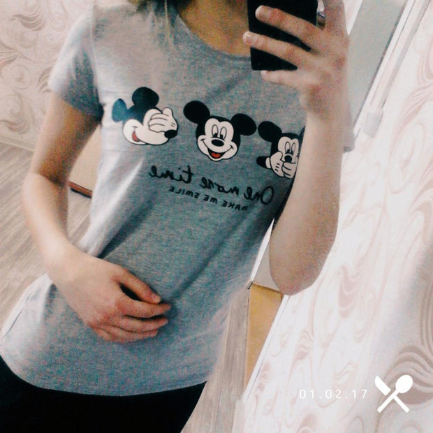 Cartoon Printed Short Sleeve T-shirts