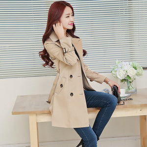 Women Trench Coat with Belt