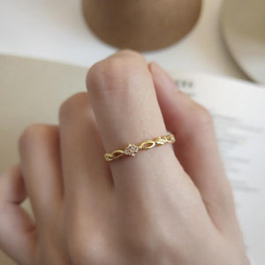 925 sterling silver gold plated  ring ring female food knuckle ring simple temperament tide Japan Korean girlfriends gift