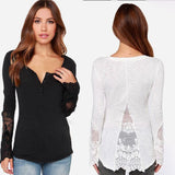 Best selling women's mesh stitching Slim T-shirt top Split chevron lace side shirt