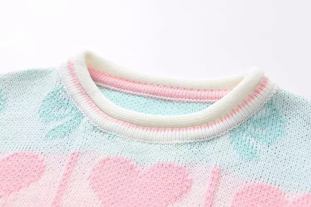 Macarons love bow sweater sweater