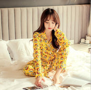 Women Casual Dog Patterned Pajama Sets