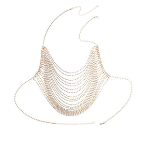 Sexy exaggerated rhinestone nightclub chest chain fashion flash diamond element body clothing chain