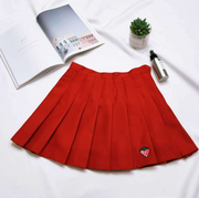 Strawberry Embroidered High Waist Skirt