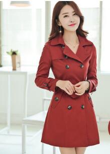 Women Trench Long Coat With Belt