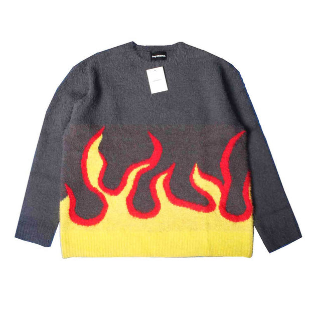 Flame Long Sleeve loose sweater