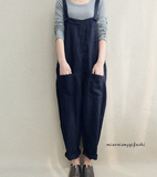 Casual Cotton gallus Solid Color Jumpsuit