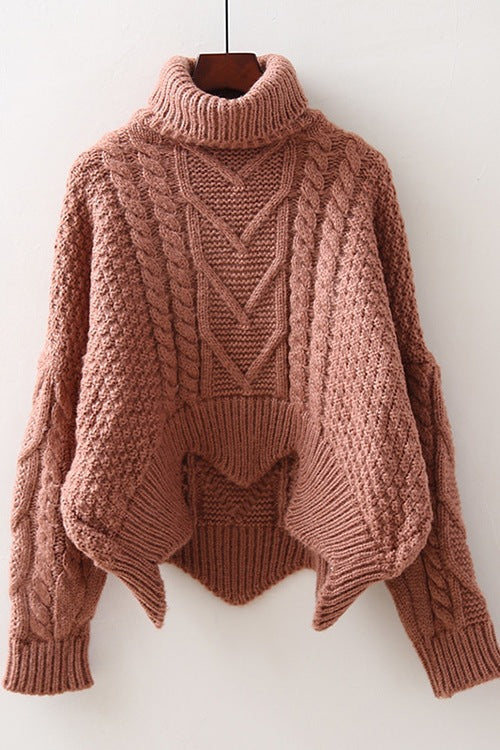 Turtleneck long sleeve knitting pullover Sweater