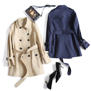 British style boutique double breasted coat 2017 female in long coats coat new coat clothing wholesale