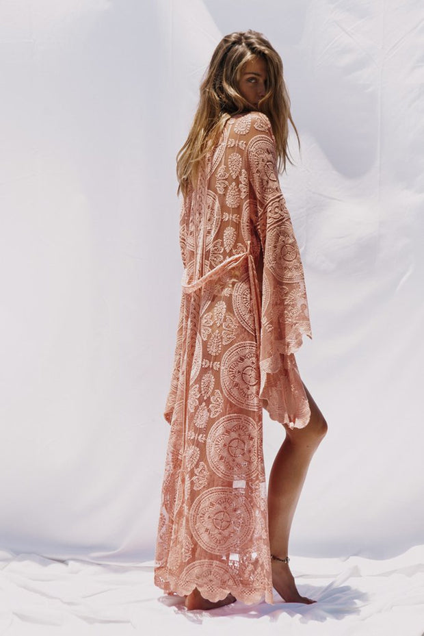 Bohemian lace long Sleeve Hollow out Cardigan