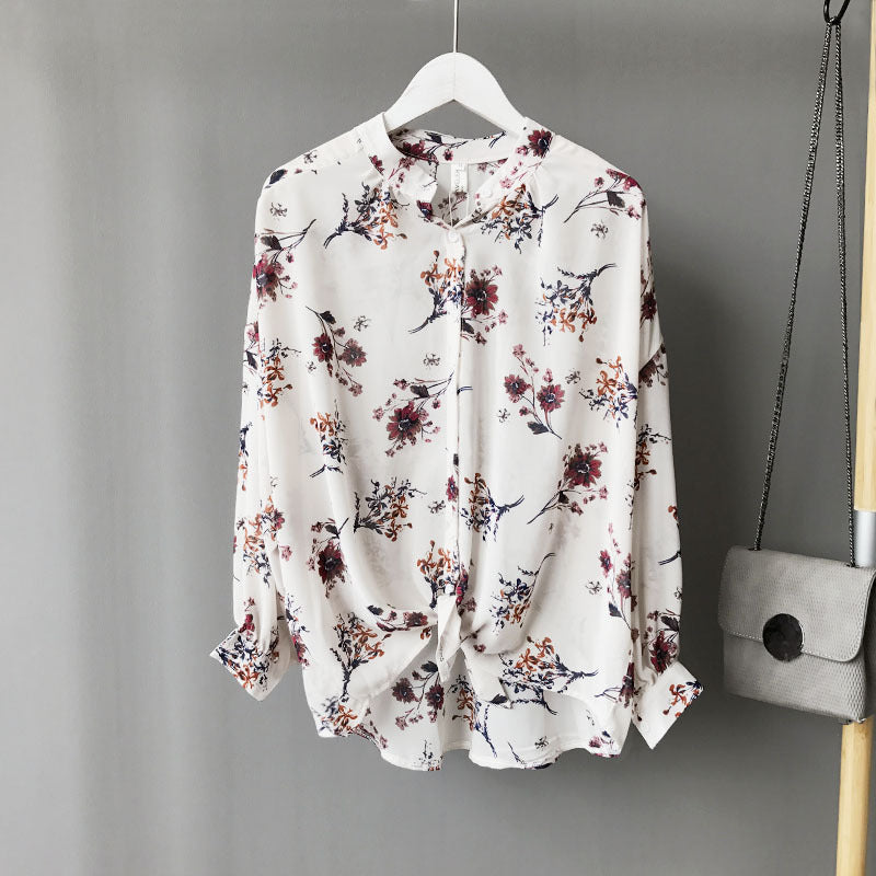 Long sleeved Casual Printed Blouse tops