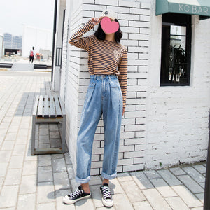 Light Blue Wide Leg Shift Denim Jeans