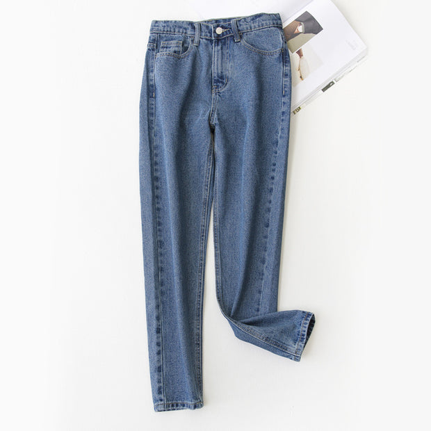 Autumn and winter of 2018 the new Korean Korean high waisted jeans pants color