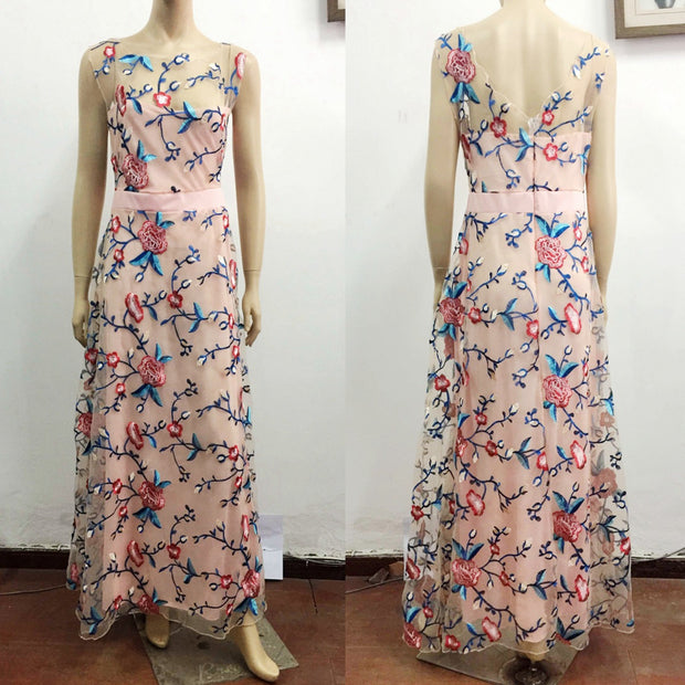 Embroidery Evening Dress