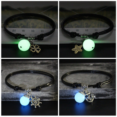 Luminous Men's and Women's Lovers Bracelet Student's Personality Jewelry Weave Hand-wrap Mori Korean Bracelets Bracelets