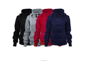 Autumn and winter new AliExpress best selling Double-breasted detachable hooded jacket Thick warm cotton coat women