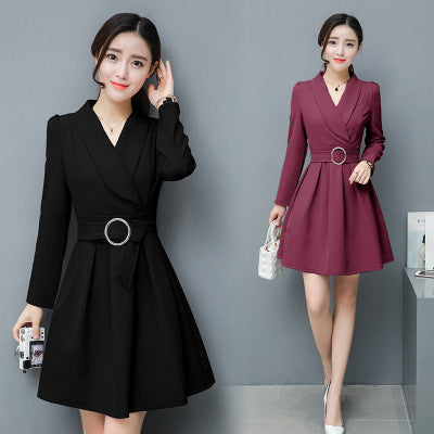 2017 new dress slim slim skirt backing