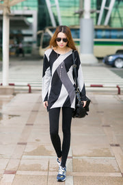 Quick sell eBay explosion, hot stripe pattern, long loose jacket 0310 (real shot spot)