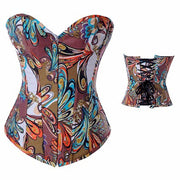 European and American court sexy corset corset multi-color