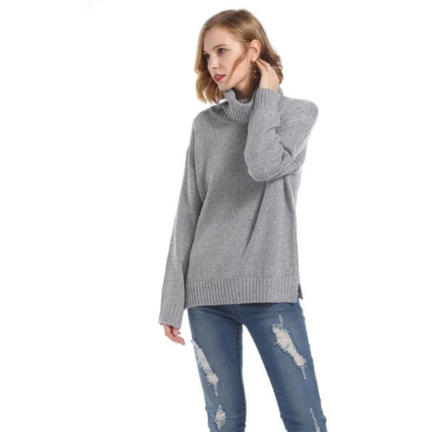 Bunny High Neck Loose Warm Sweater