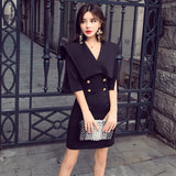 2018 autumn new products, simple fashion, sexy waist, self-cultivation, buttocks dress woman