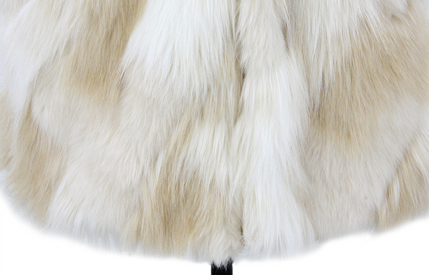 Wild sleeveless solid color mixed color faux fur vest