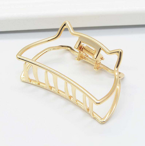 Minimalist wind metal hair clip