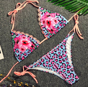 Printed Bikini Women's Split Swimsuit