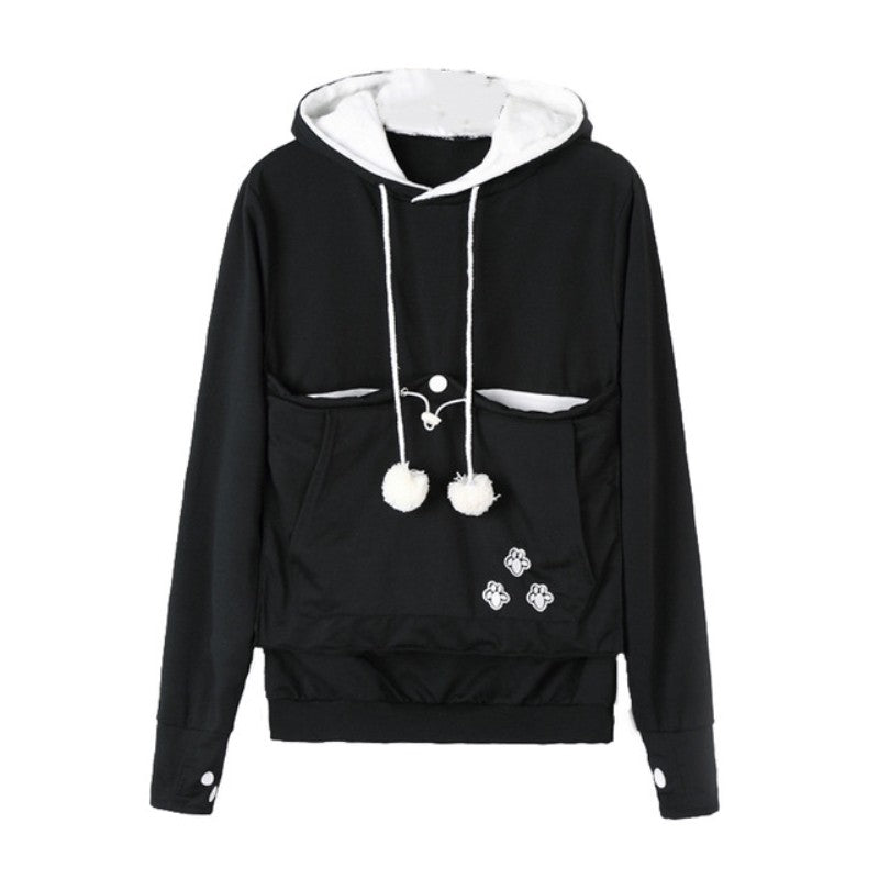 Cat Lovers Pocket Front Hoodie
