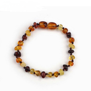 Baltic natural amber baby bracelet Infant child teething diy irregular amber bracelet