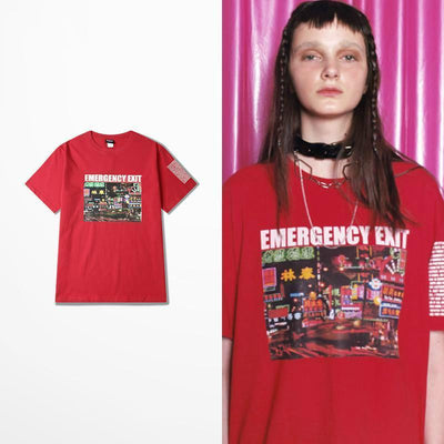 Emergency Exit Boyfriend Tee