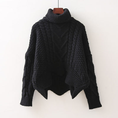 autumn Autumn 2018 solid color hot sale turtleneck long sleeve knitting pullover Sweater