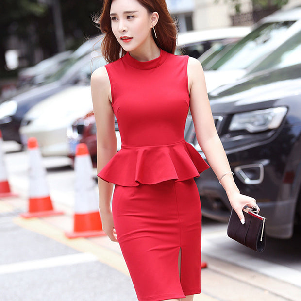 Ruffled two-piece Bodycon Dress