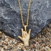 Sign Language Pendant I Love You Necklace