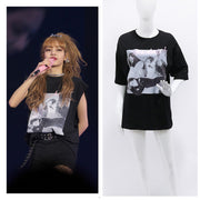 Pop Loose Letter Printed Round-neck Tee - Fashion Series