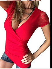 Lace short-sleeved Slim T-shirt