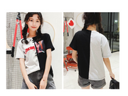 2018 Women''s T-shirts Japan Punk Kawaii Ulzzang Summer Loose Letters Printing Ring Student Female Korean Kawaii Tshirt For Women