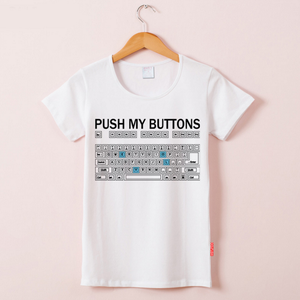 Keyboard Pattern Fun Tee