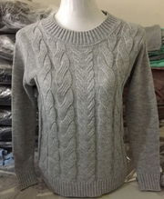 Long Sleeve Twist Knitted Sweater
