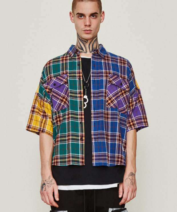 Men's plaid shirt