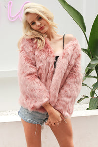 Maria Street Stylish Fur Coat