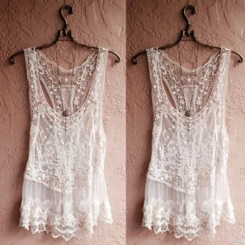 Bohemian Sheer Lace Cover Up