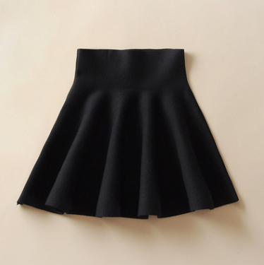 Draped Knitted Short Skirt