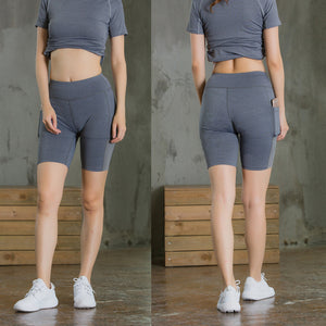 Fitness Elastic Skinny Dry Pocket Yoga Shorts