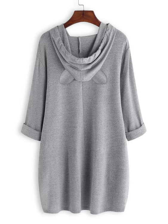 Hooded loose t-shirt