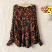 Color Blend Loose Knit Mohair Sweater