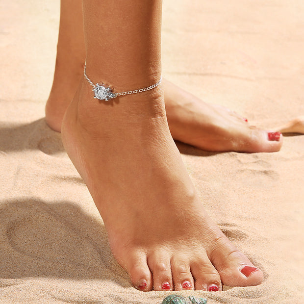 Turtle foot anklet