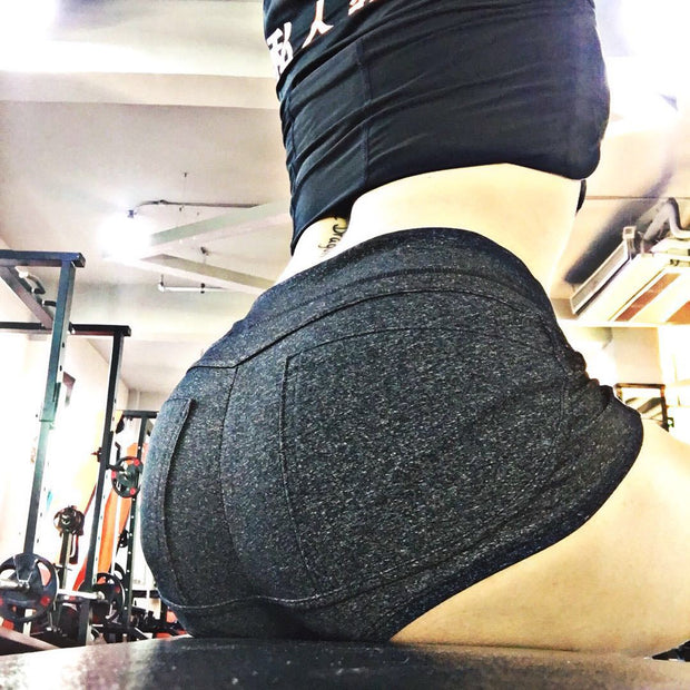 Sports shorts female tight hip sexy v-shaped peach hip high waist shorts yoga pants fitness pants