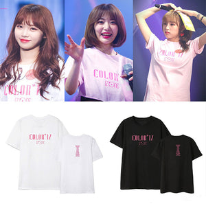 IZONE combination debut album COLORIZ concert around the support of the same paragraph short-sleeved T-shirt men and women shirt