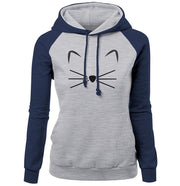 Woman Cute Cat Pattern Hoodies